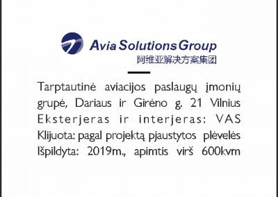 AVIA SOLUTION -aprašas